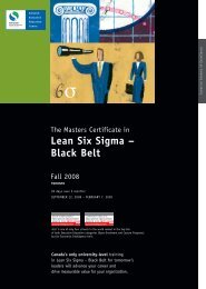 Lean Six Sigma Brochure Fall 08 - Schulich School of Business ...