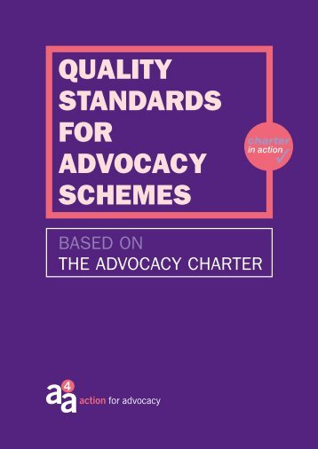 Quality Standards for Advocacy Schemes - Support