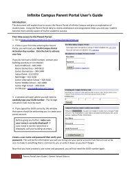 Infinite Campus Parent Portal User's Guide - Center School District