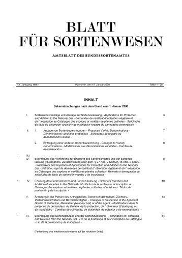 Januar 2008 - Bundessortenamt