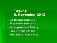 Beschwerdestelle Psychiatrie Stuttgart, von Dr - Pro Mente Sana