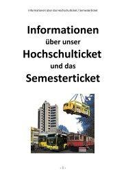 Informationen Hochschulticket Semesterticket - Beuth Hochschule ...