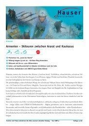 Armenien – Skitouren zwischen Ararat und ... - Wanderreisen.de