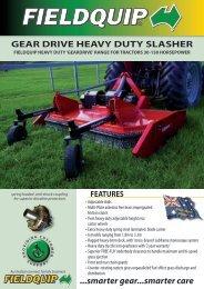 smarter gear...smarter care GEAR DRIVE HEAVY DUTY ... - FieldQuip