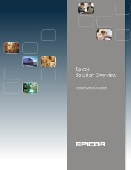 Epicor Solution Overview - Zift Solutions