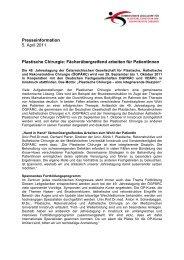 Plastische Chirurgie_fächerübergreifendes Arbeiten für ...
