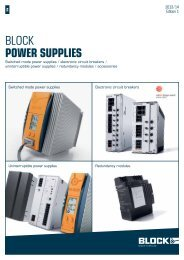 BLOCK Power suPPlies - BLOCK Transformatoren-Elektronik GmbH