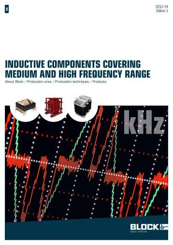 InductIve components coverIng medIum and hIgh frequency range