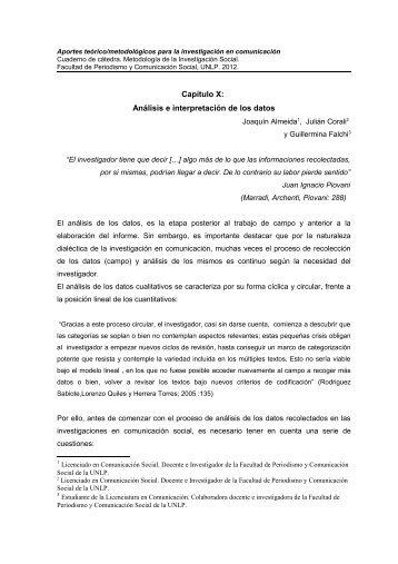 Aportes teórico/metodológicos para la investigación en comunicación