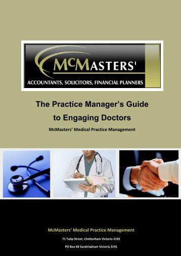 The Practice Manager's Guide to Engaging Doctors - McMasters ...