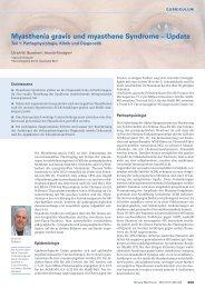 Myasthenia gravis und myasthene Syndrome – Update - Swiss Medical ...