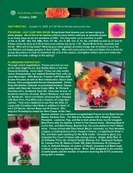 October 2009 - Dahlia Society of California