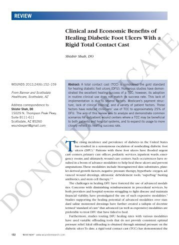 Clinical and Economic Benefits of Healing Diabetic Foot ... - Wounds