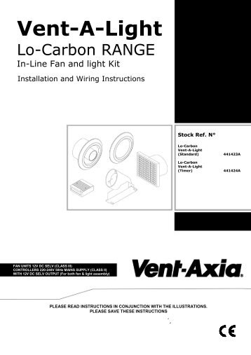 F&W Instructions - Vent-Axia