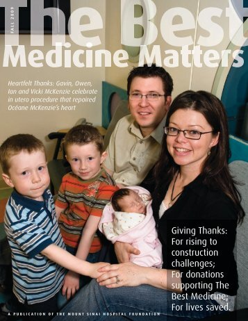 Best Medicine Matters Fall 2009 - Mount Sinai Hospital