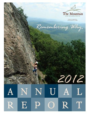 2012 Annual Report - Mountain Retreat and Learning Center
