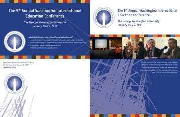 The 9th Annual Washington International Education Conference