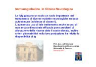 Immunoglobuline in Clinica Neurologica