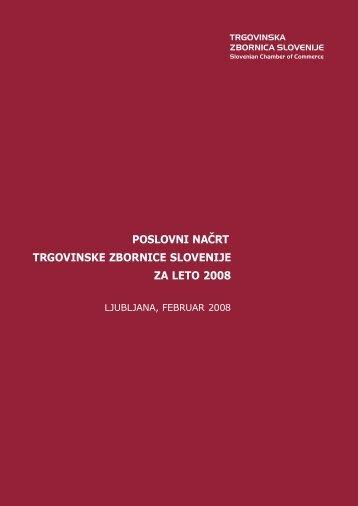Poslovni načrt TZS za leto 2008 - Trgovinska zbornica Slovenije