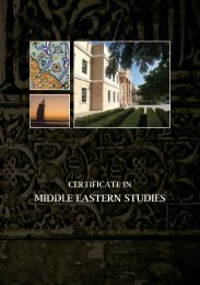MIDDLE EASTERN STUDIES - American University in Dubai