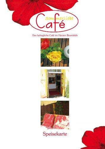 Speisekarte - Café Sommerliebe