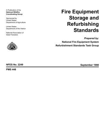 Fire Equipment Storage and Refurbishing Standards - National ...