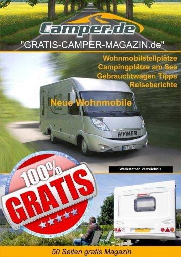 """Warum ein """"Gratis Camper Magazin""""? - Camper.de"""