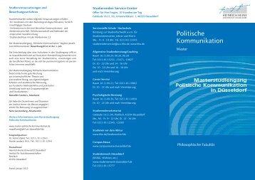 Flyer - Philosophische Fakultät - Heinrich-Heine-Universität ...