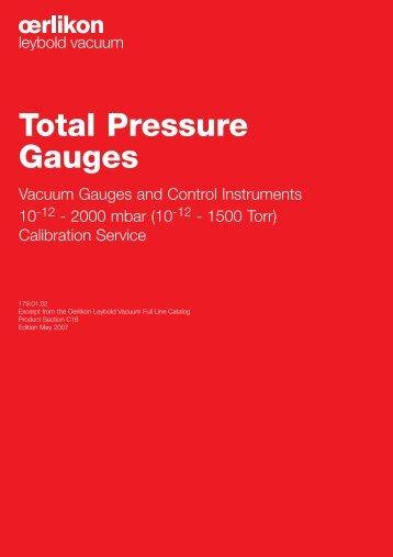 Total Pressure Gauges