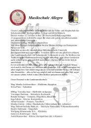 Unsere Landesmusikschule in Molln bildet mit der Volks, und ...