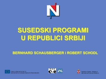Neighbourhood Programmes in the Republic of Serbia