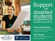 Support for disabled students progressing to higher education