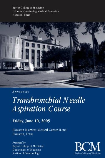 Transbronchial Needle Aspiration Course - CME Activities
