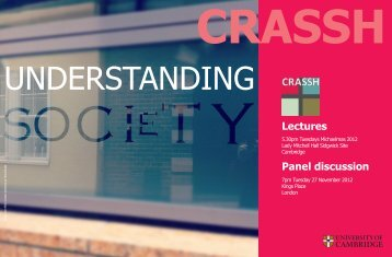 Download flyer - CRASSH and
