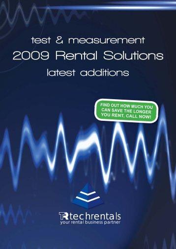 Catalogue Supplement TR0209.indd - Tech-Rentals