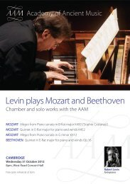 Levin plays Mozart and Beethoven - CRASSH and