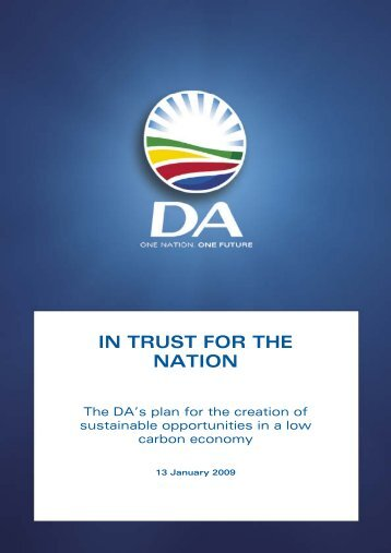 IN TRUST FOR THE NATION - Democratic Alliance
