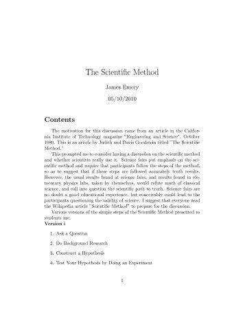 The Scientific Method - STEM2