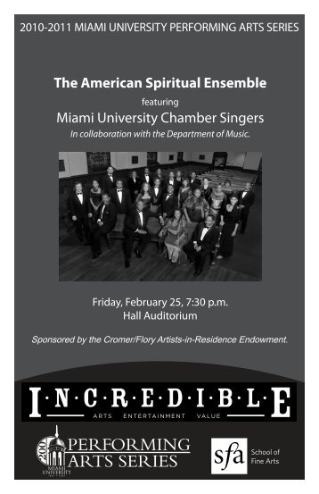 NCREDIBL - Miami University School of Fine Arts