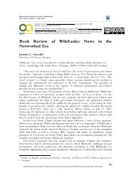 News in the Networked Era - International Journal of Cyber ...