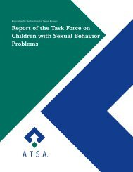 Report of the Task Force on Children with Sexual Behavior Problems