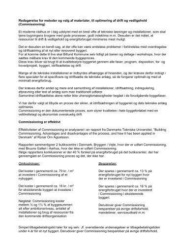 Drift og Vedligehold - Billund Kommune