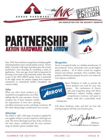 akron hardware. arrow pointe interchangeable core - akron hardware i