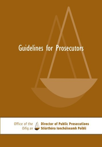 Guidelines for Prosecutors Treoirlínte - La Strada International