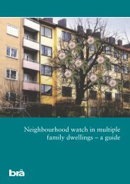Neighbourhood watch in multiple family dwellings – a guide