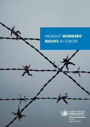 MIGRANT WORKERS' RIGHTS IN EUROPE - La Strada International