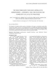 the high-throughput research approach to biorefineries - Cellulose ...