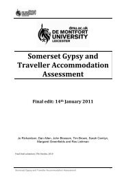 Somerset Gypsy and Traveller Accommodation Assessment