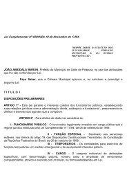 Estatuto dos Funcionários Publicos - Câmara Municipal de Salto de ...