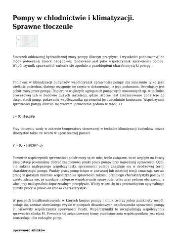 Pompy w chÃ…Â'odnictwie i klimatyzacji. Sprawne ... - Klimatyzacja.pl